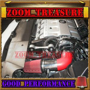 1996 1997 1998 1999//96 97 98 99 CADILLAC DEVILLE 4.6L V8 AIR INTAKE KIT Red