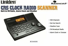 Uniden 500-Channel Police Scanner BC365CRS Alarm Clock Radio Scanner