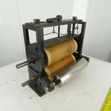 14 Lagged Rubber Feed Pinch Lamination Roller Manual Adjust Frame Assembly