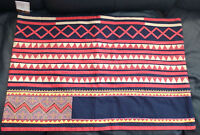Pottery Barn Mia Appliqué Lumbar Pillow Cover 20 X 30. With Tag