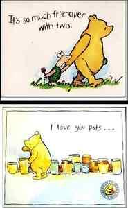 "2 Large 12x9"" Winnie the Pooh Col Classic Large Disney Prints Children's Kids"