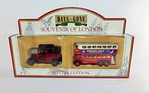 Lledo-Days-Gone-Souvenir-of-London-Gift-Set-Van-Truck-Bus-Die-Cast-Models