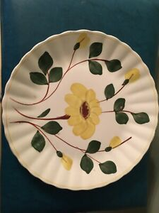 blue-ridge-southern-potteries-9-1-2-in-serving-plate-yellow-daisy