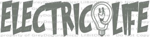 Electric Life Design B Light Bulb Vinyl Decal Electric Construction Sticker Auto