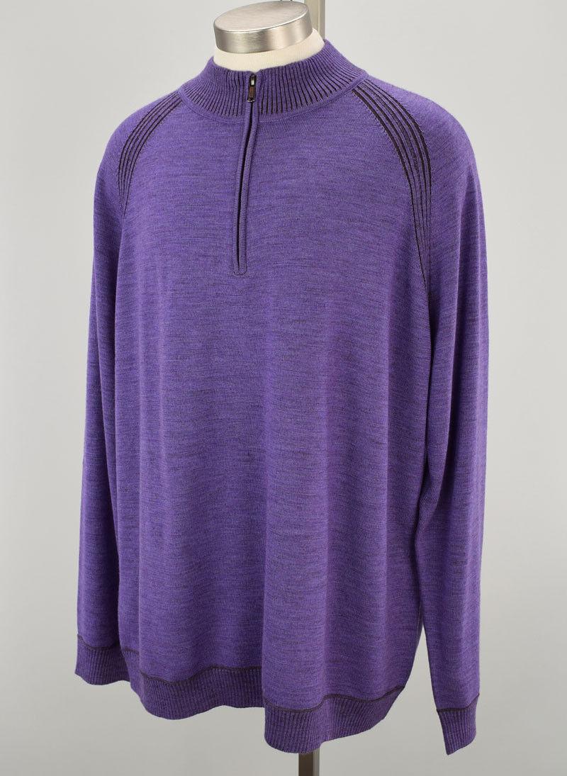 ROBERT GRAHAM Heather lila JOVANNI TailoROT Fit Wool Sweater 3X NWT