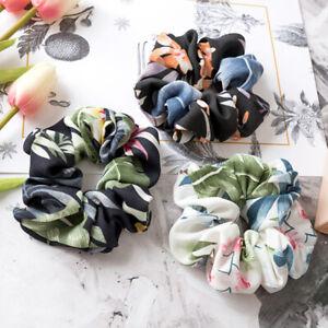 Spring-Flower-Hair-Scrunchie-Ponytail-Holder-Hair-Ties-Rope-Elastic-Hair-Band-Nd