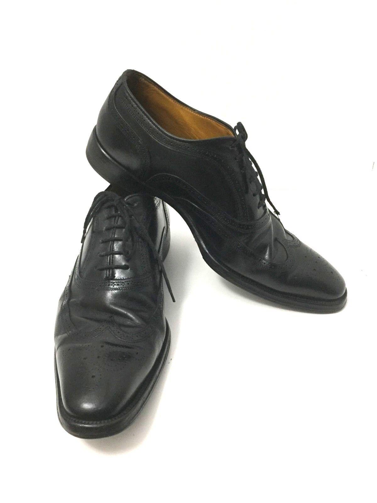 Zapatos de vestir Canali para hombre negro de extremo de ala. tamaño   US 8.5 Made in .