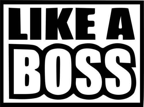 Like a boss  Car//Window//Van JDM VW VAG EURO Vinyl Decal Sticker Surf Skate