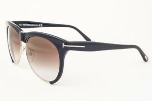 9e2965df650 Image is loading Tom-Ford-Leona-Black-Brown-Gradient-Sunglasses-TF365-