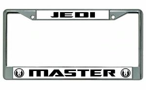 Trust Me I/'m a Jedi black metal License Plate Frame METAL