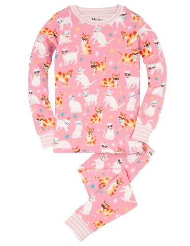 *BNWT Hatley Girls Cool Cats Pyjamas Pink Soft Snug Cotton Cute Kittens Cat