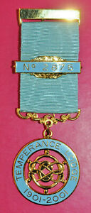 Temperance Lodge No 2876 masonic centenary jewel