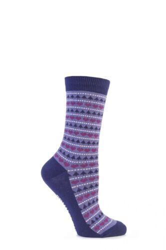 Femmes 1 paire Sockshop festive feet fair isle noël nouveauté chaussettes