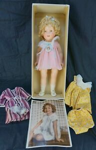 Vintage-Ideal-Shirley-Temple-Composition-Doll-with-Original-Box