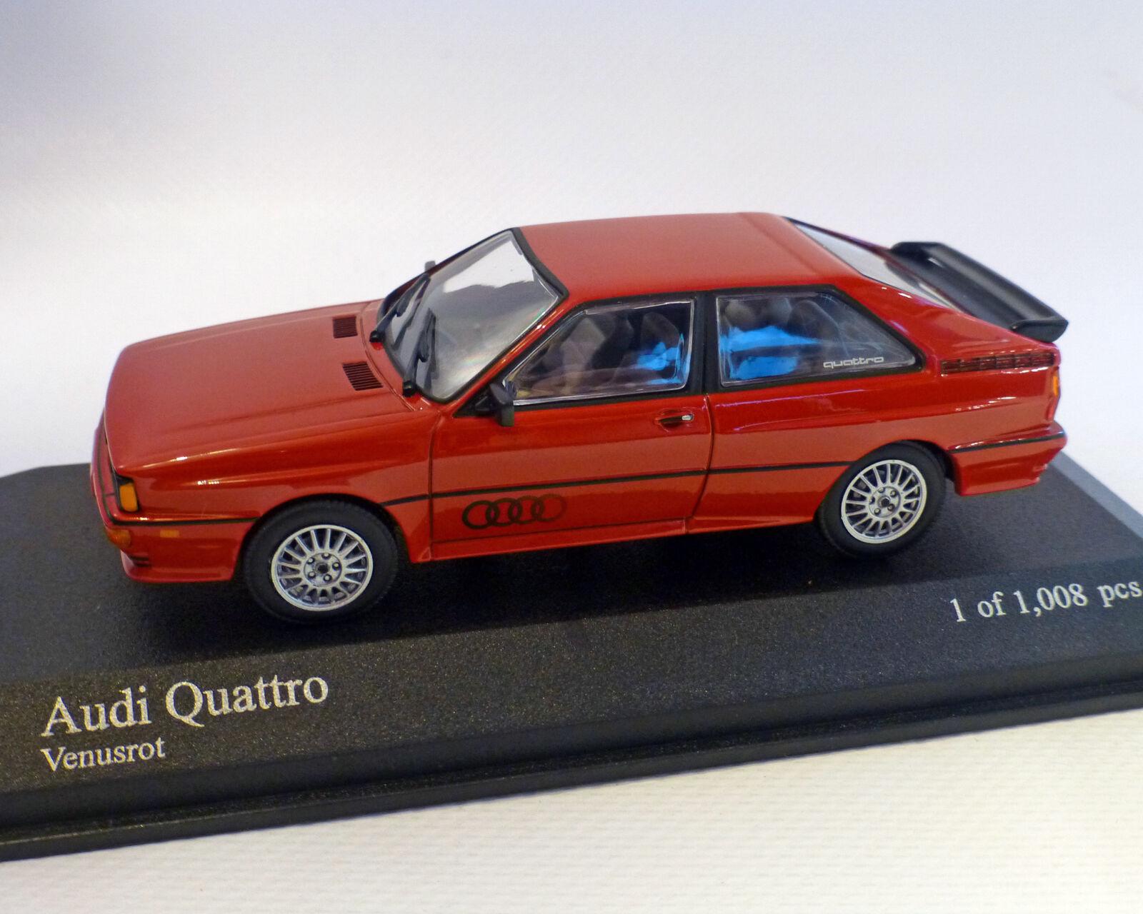 Audi Quatro 1981 Rouge, Minichamps 1 43