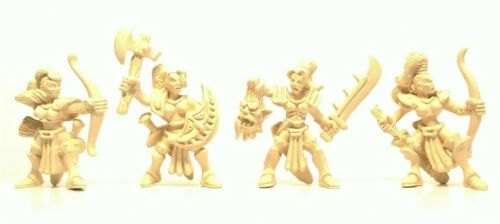 Toy soldiers Amazons Rubberized plastic 50-57mm 4pcs