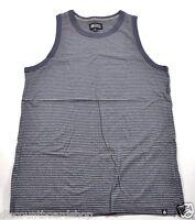 Matix PARISIAN Heather Grey Blue Striped Cotton Sleeveless Shirt Men's Tank Top