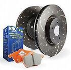 Disc Brake Pad and Rotor Kit-S8 Kits Orangestuff and GD Rotors Front EBC Brake