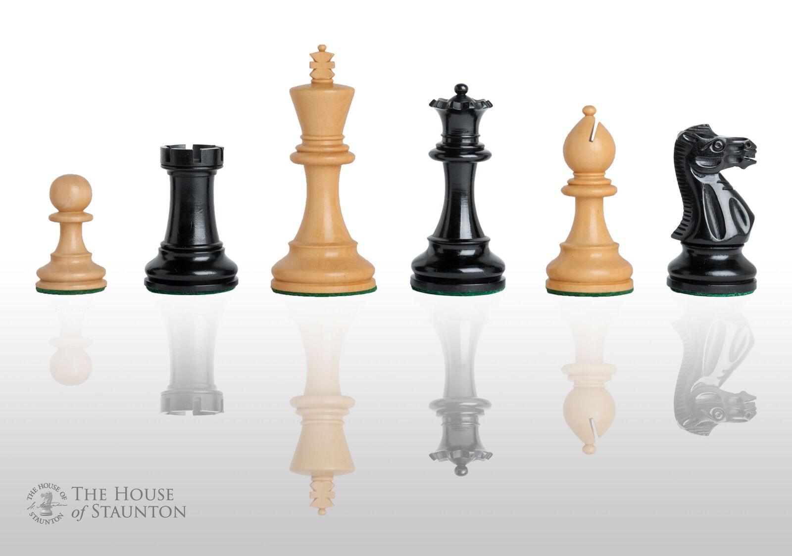 USCF ventes le Grandmaster Chess Set-pièces seulement - 4.0  King-ebonized boxwoo