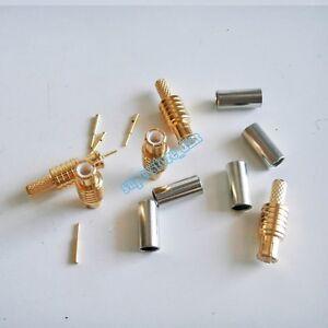 10X MCX male plug crimp solder RG174 RG316 RG179 RG188 RF Cable Connector
