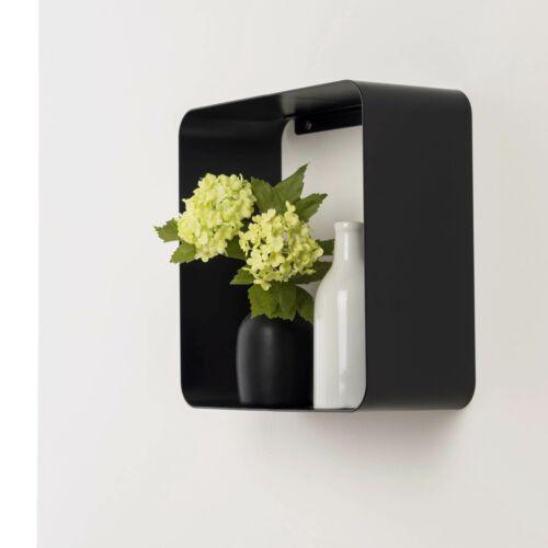 Metallregal Cube Bücherregal Wandregal Regalwürfel 28 x 28 x 12 cm schwarz