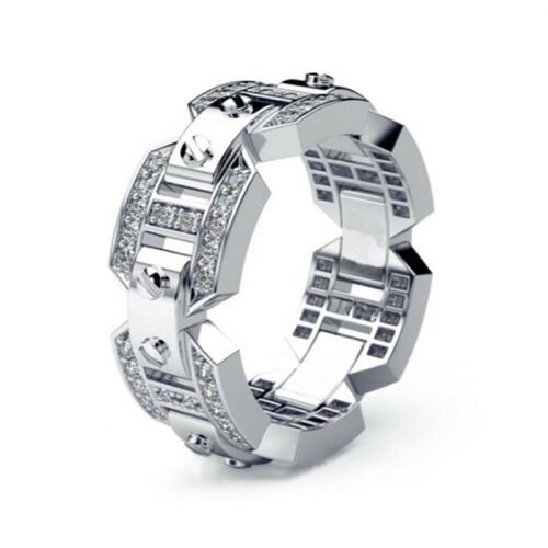 8mm Stainless Steel Black Ring Wedding Band with Beveled Edge for Women or Men
