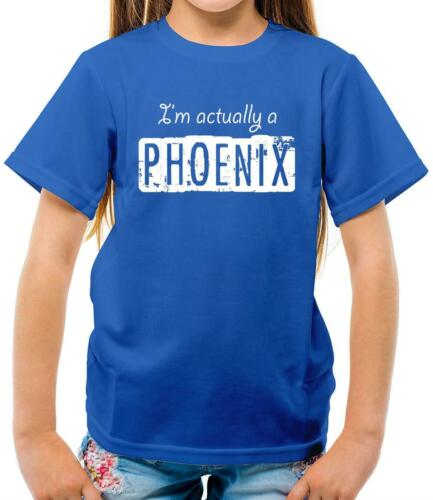 Magic Myth Kids T-Shirt Fawkes I/'m actually a phoenix Magical Potter