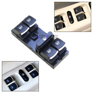 OE-Interruptor-de-Control-de-Ventana-de-cromo-para-VW-Jetta-Golf-Gti-Passat-B6-Caddy-Tiguan