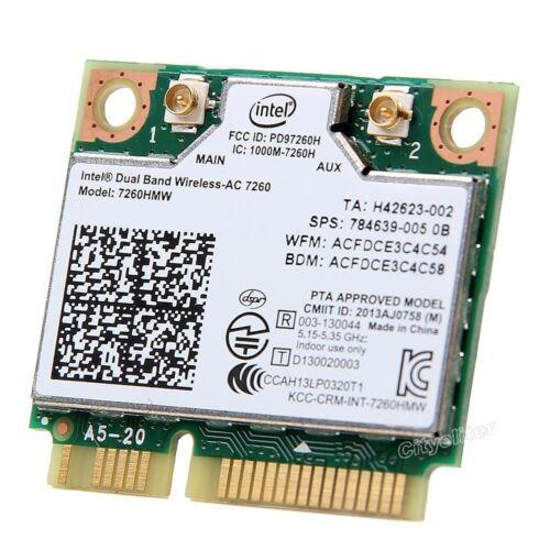 Intel 7260HMW Dual band wireless-AC 7260 867Mbps 802.11ac Wifi BT 4.0 PCI-E Card