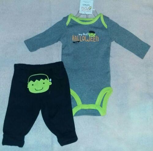 "Details about  /Carter/'s JOY 3 Month Baby Boy /""My First Halloween/"" Frankenstein Bodysuit /& Pants"