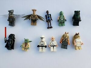 Lego-Star-Wars-Minifigures-Darth-Vader-Yoda-Droid-Clone-Trooper-Ewok-Gungan