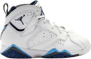 Jordan VII Retro - Preschool - Shoes - White Frech Blue University Blue Flint Grey - 304773 107
