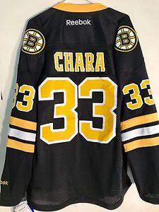 Reebok-Premier-NHL-Camiseta-Boston-Bruins-Zdeno-Chara-Negro-Alt-Sz-LARGA