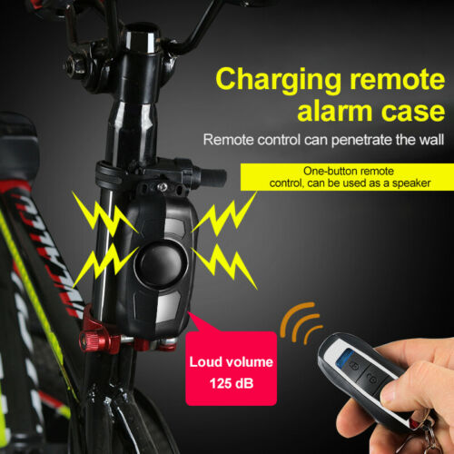 Details about  150dB Wireless Anti-Theft Vibration Motorcycle Bicycle Security Bike Alarm Tool!