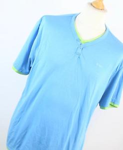 Lee-Cooper-Herren-Blau-Baumwolle-T-Shirt-Groesse-XL