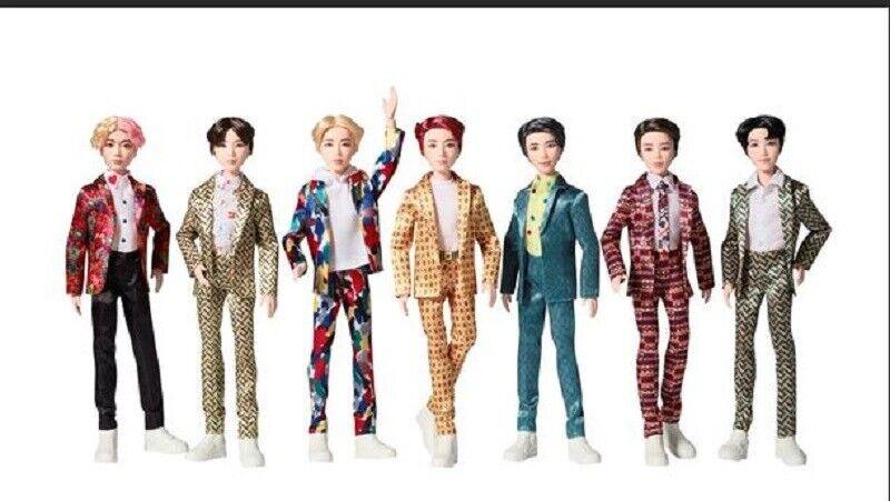 BTS V RM Jimin Jin J-Hope Jung Kook Suga Barbie Dolls Complete Set of 7