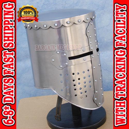 Medieval Knight Templar Helmet With  Liner /& Chin Strap