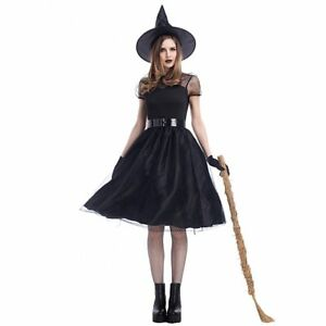 9c43bd9d563 Image is loading Halloween-Women-Black-Witch-Costume-Darling-Spellcaster- Costumes-
