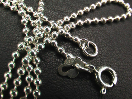 50 cm Lengths 40 925 Sterling Silver 1.8 mm Ball Chains 45