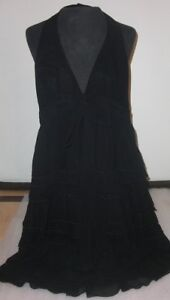 New-Zara-Black-Halter-Dress-Top-Size-Small-NWT