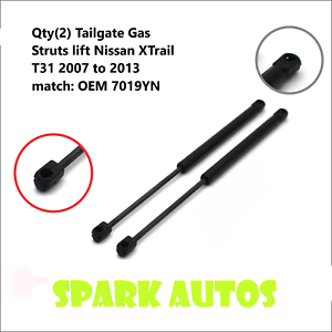 1-Pair-Tailgate-Gas-Struts-lift-Nissan-XTrail-T31-2007-to-2013-match-OEM-7019YN