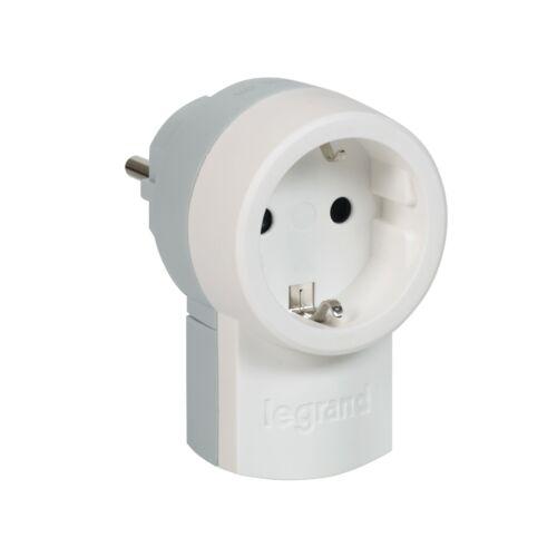 LEGRAND Schutzkontakt-Stecker          - integrierte Kupplung weiß