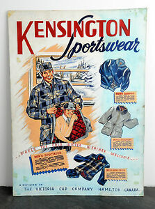 1940s-Kensington-Sportswear-Original-Art-Ad-Agency-Illustration-Hamilton-Ontario