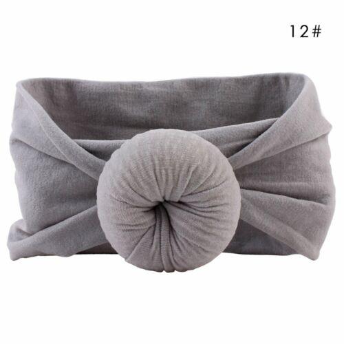 Girls Kids Baby Cotton Bow Hairband Headband Stretch Turban Knot Head Wrap