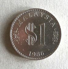 Rm1 Malaysia 1986 coin # 382c