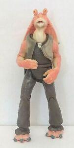 Star-Wars-Jar-Jar-Binks-4-034-Action-Figure-Only-1998-Hasbro-Used