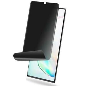 Galaxy Note 10+ Plus PRIVACY SCREEN PROTECTOR SOFT TPU FILM FINGERPRINT WORKS