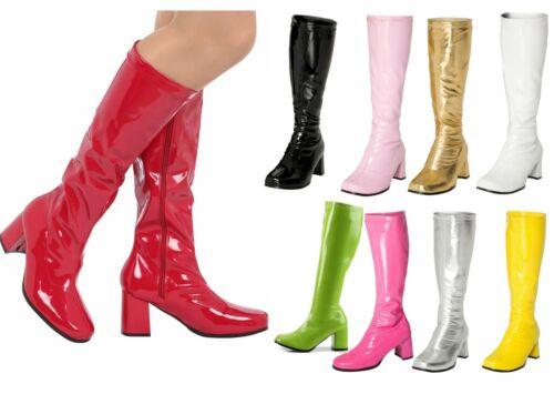 NEW LADIES WOMENS VINTAGE FANCY DRESS PARTY GO GO BOOTS 60s 70s RETRO SIZES 3-12