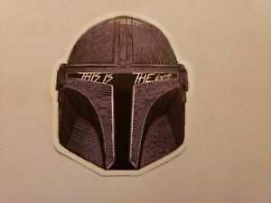 "MANDALORIAN HELMET /""THIS IS THE WAY/""VINYL STICKER OUTDOOR USE FREE SHIPPING"