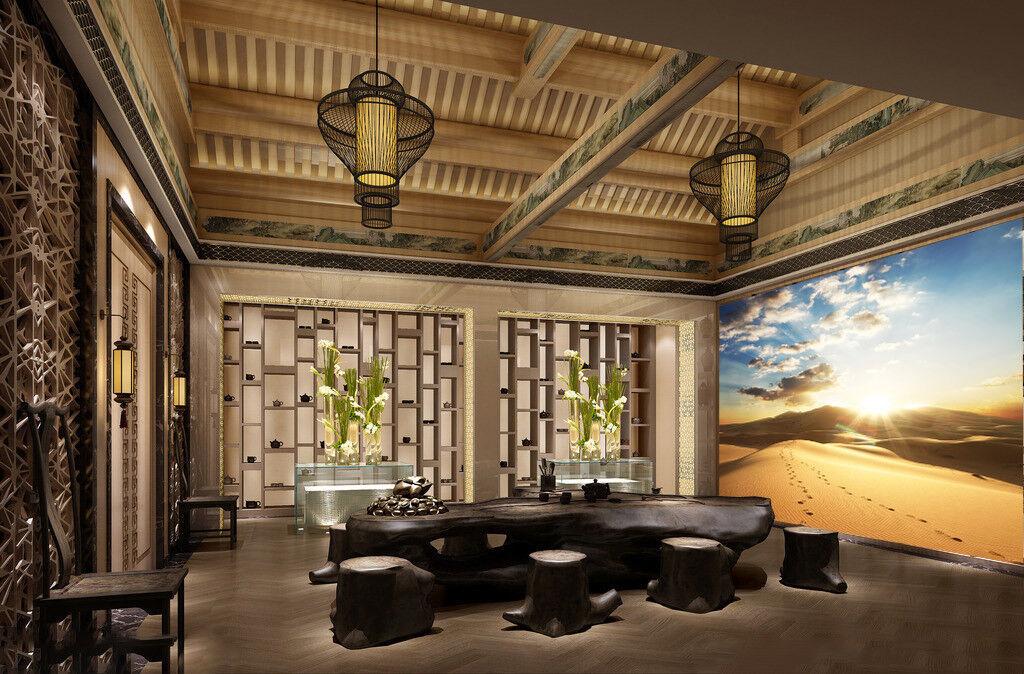 3D Sonnen Wolken Wüste 8 Tapete Wandgemälde Tapete Tapeten Bild Familie DE Lemon